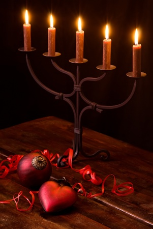 Christmas Decoration with Candlelight Holder Stock Photo - 11155250