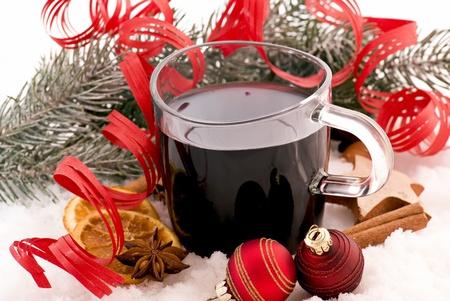 vin chaud: D�coration de No�l avec vin chaud punch Banque d'images