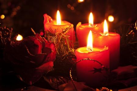 luz de velas: Decoración de Navidad