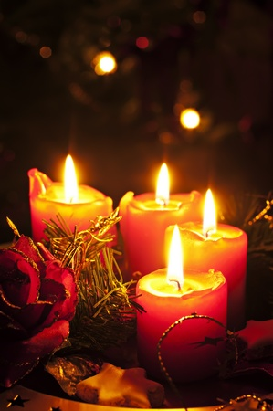 Christmas candles photo