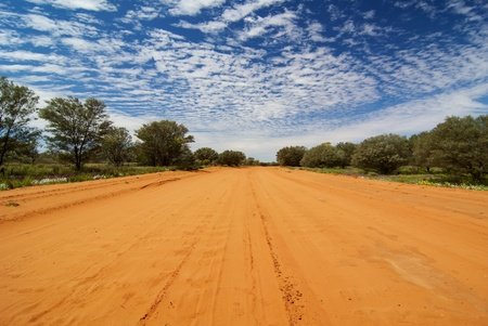 unsurfaced road: Sandy Outback Track
