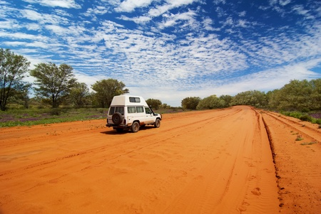gravel roads: Sandy Outback Track