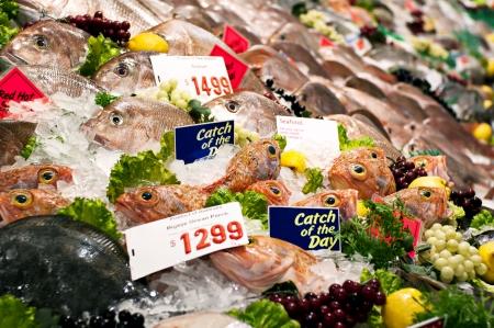 fish selling: Fish Market