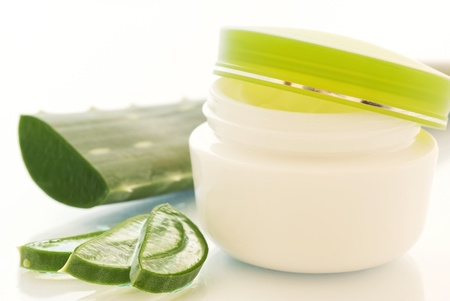 acemannan: Beauty Creme with Aloe Stock Photo