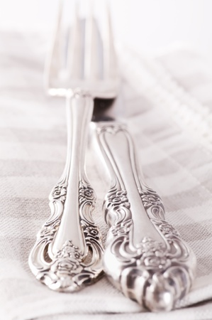 silver plated: flatware