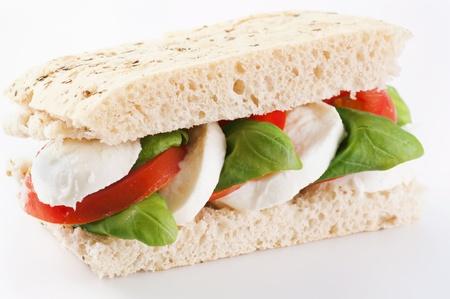 Tomato mozzarella sandwich photo