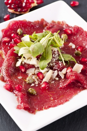 carpaccio with parmesan and capers photo
