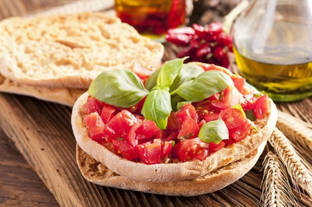 le: LE Freselle with fresh bruschetta