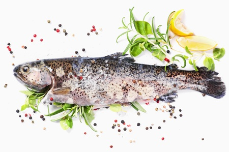 trout: rainbow trout filled with fresh herbs