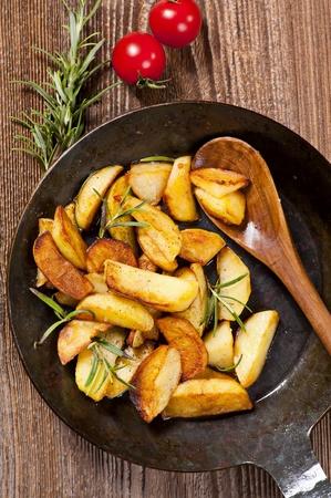 skillet: fried potato Stock Photo