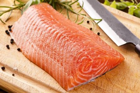 rosmarin: Salmon filet with herbs