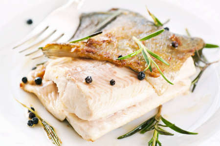 Trout fried with spices photo