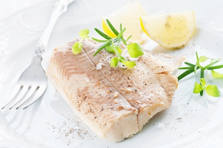 Trout fillet with spices photo