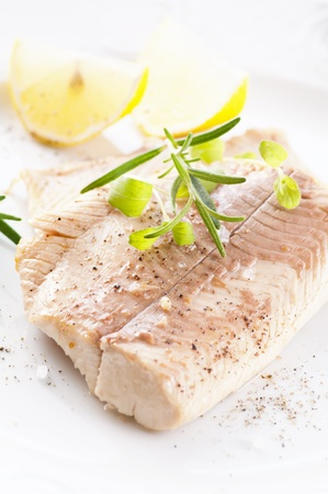 rosmarin: Fish fillet with fresh herbs Stock Photo