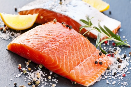 Fresh salmon with spices Stock Photo - 12808855