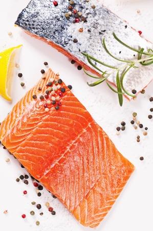 rosmarin: Fresh salmon