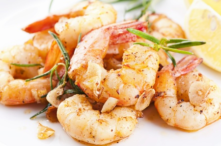 shrimp: fried king prawns with garlic and herbs