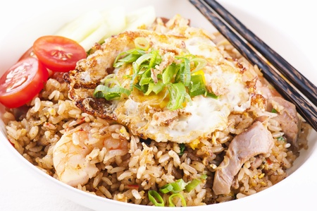goreng: Nasi Goreng with chicken and shrimp