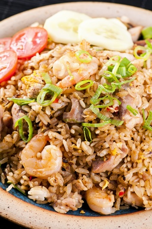 goreng: Nasi Goreng with chicken and shrimps