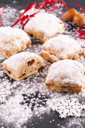 fruit bread with powdered sugar photo