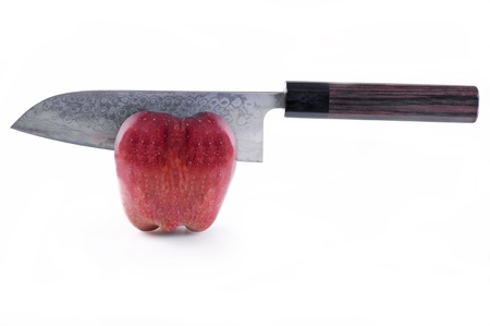Santoku with apple photo