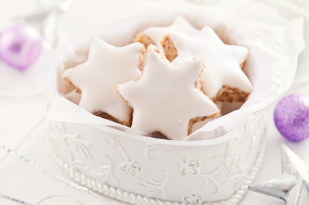 comfit: cookies in a white box  Stock Photo