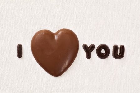Chocolate heart photo