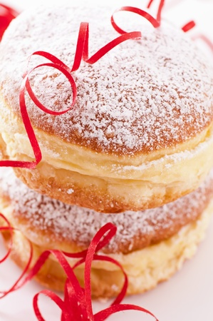 vanish: Krapfen with decoration as closeup