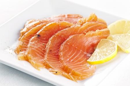 marinated: Salmon marinated