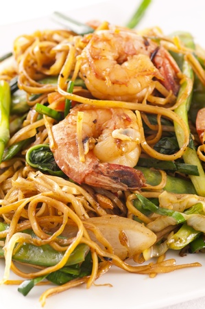 mee pok: chinese stir - fried noodles