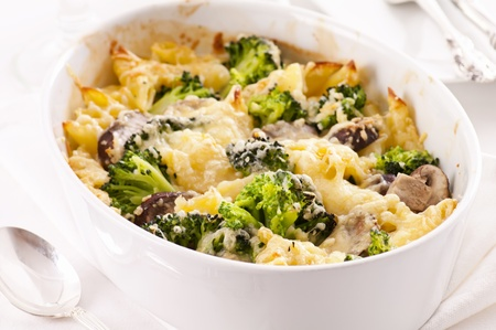 casserole: Casserole with pasta and cheese Stock Photo