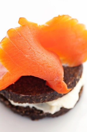 Snack with bred and salmon  photo