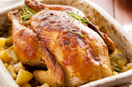 roasted chicken with potato photo