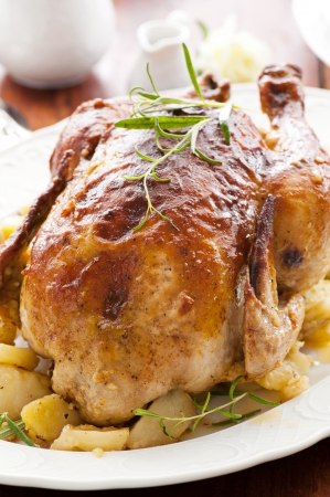 chicken roasted with the herbs photo
