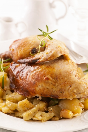 Roasted chicken with potato Stock Photo - 13642469