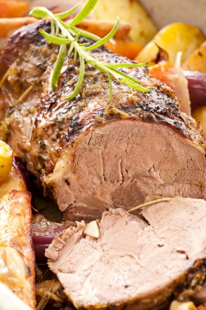 lamb roast with vegetables photo