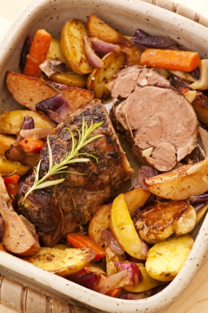 roulade: Lamb roast with vegetables