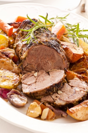 lamb roast with potato photo