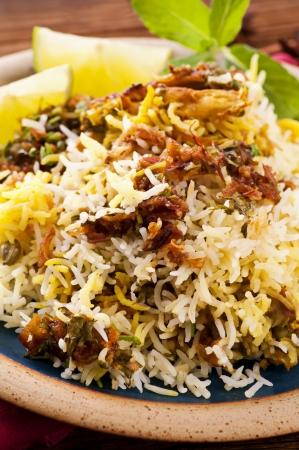 biryani: Biryani on the plate Stock Photo