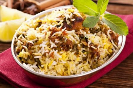 masala: indio de pollo biryani Foto de archivo