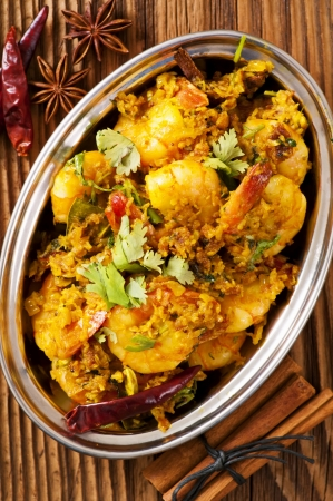 Prawns in cocolnat masala fry photo