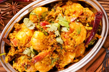 Prawns in masala fry photo