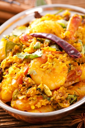 Masala fry with prawns photo