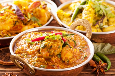 asia food: Indian food specialties Stock Photo