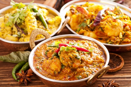 Indian food specialties Stock Photo