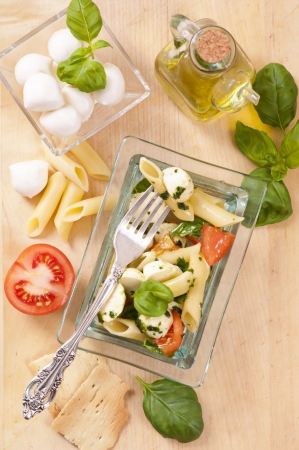 pasta salad: Pasta with Caprese salad
