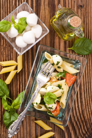 Caprese pasta salad photo
