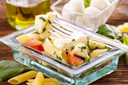Pasta salad with caprese photo