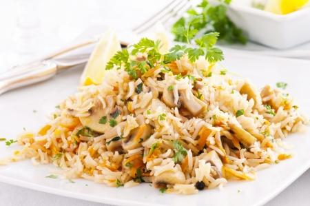 basmati: fried rice with mushrooms