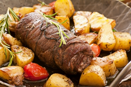 beef roulade with the potato photo